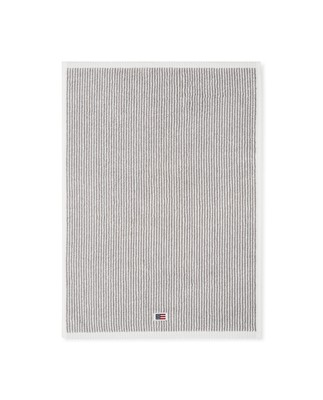 Icons Original Towel White/Gray Striped