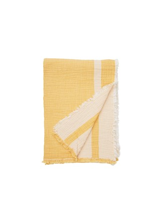 Double Faced Cotton Bedspread, Yellow