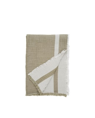 Double Faced Cotton Bedspread, Olive