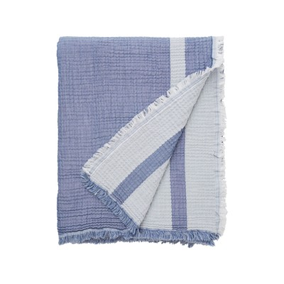 Double Faced Cotton Bedspread, Blue