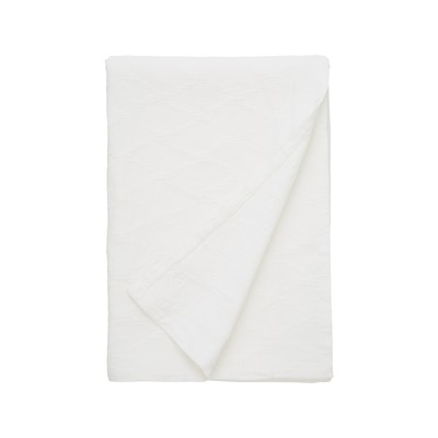 Jaquard Cotton Bedspread, White