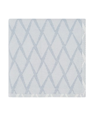 Jaquard Cotton Bedspread, Blue/White