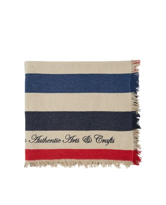 Block Striped Cotton Blanket