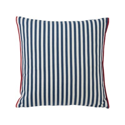 Striped Cotton Pillow Cover, Blue/White