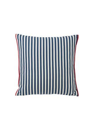 Striped Cotton Pillow Cover, Blue/White