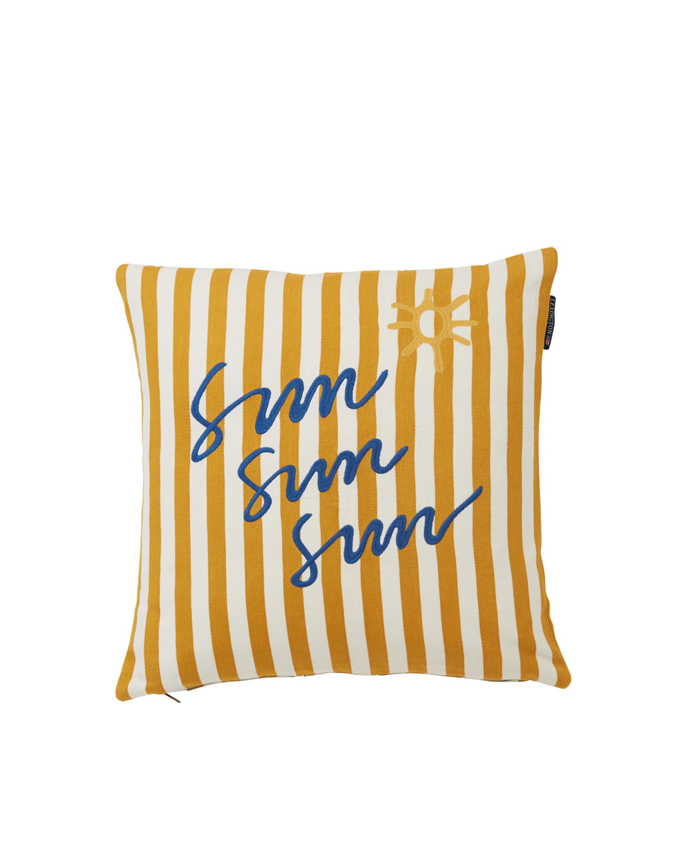 Sun Cotton Pillow Cover, Yellow/White