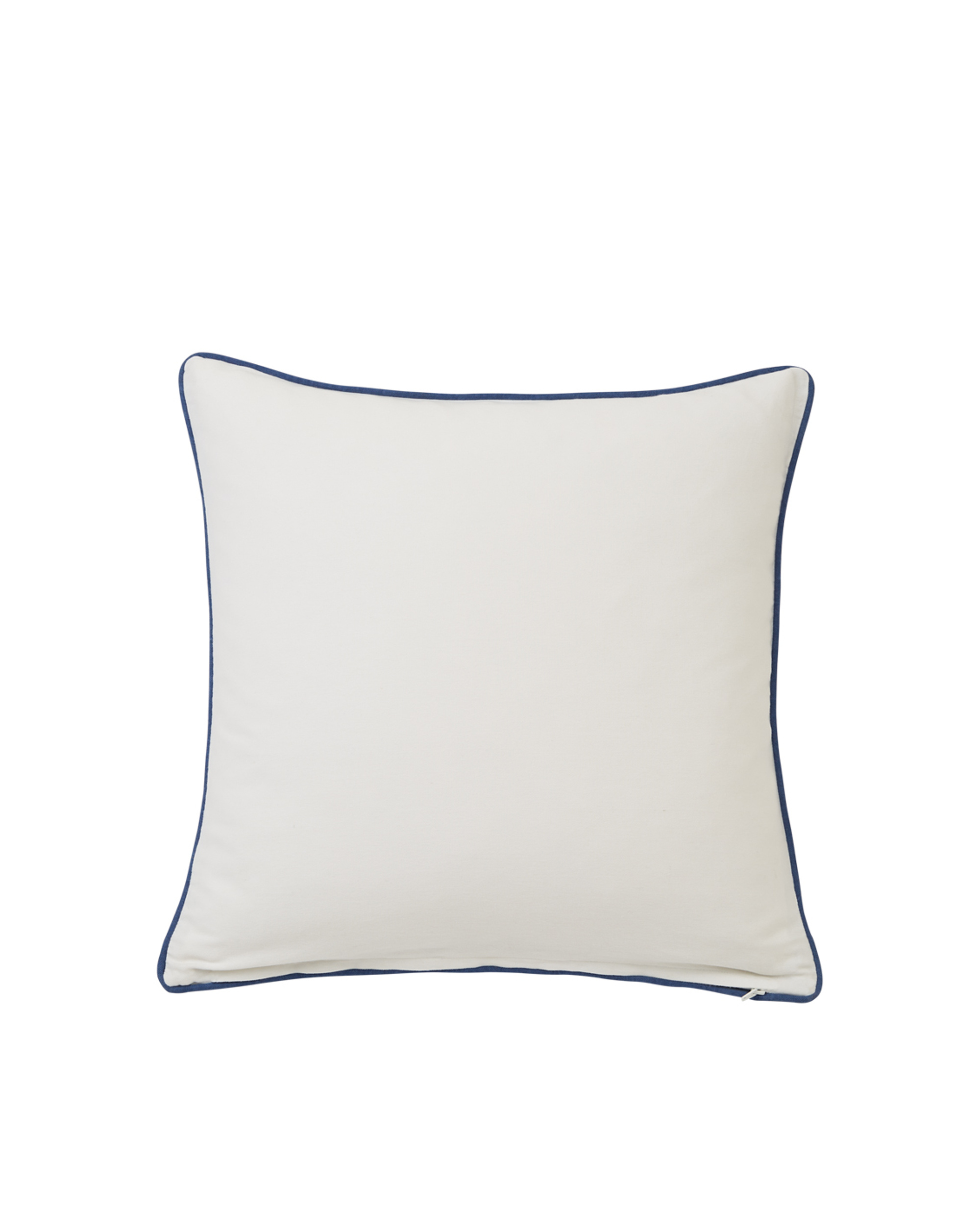 Gone To The Beach Cotton Pillow Cover, White