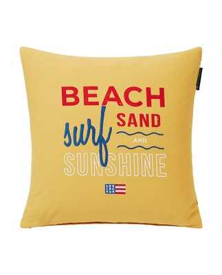 Sunshine Cotton Pillow Cover, Yellow