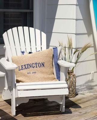 Lexington Paper Straw Pillow Cover, Natural