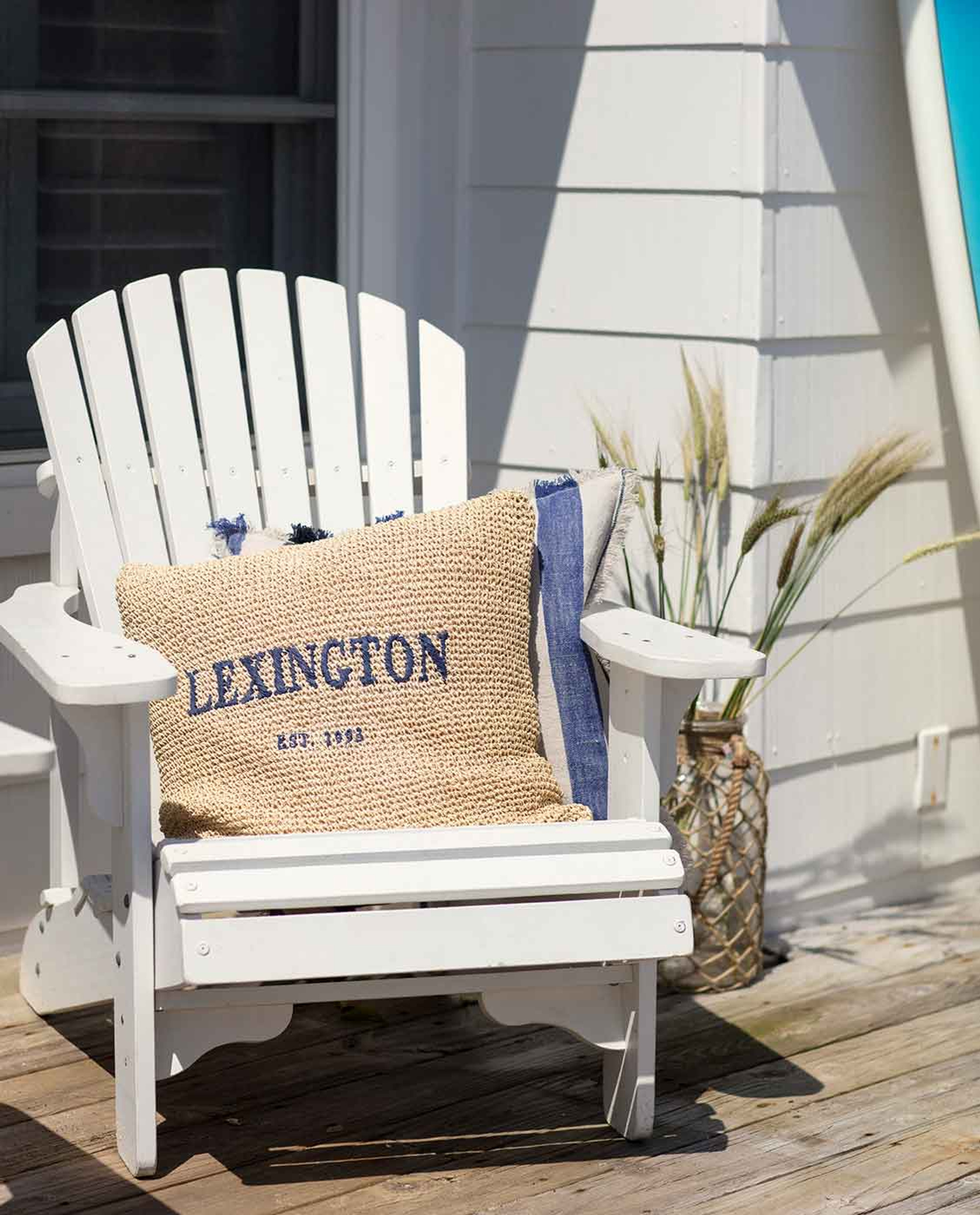 Lexington Paper Straw Pillow Cover, Natural