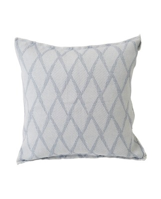 Jacquard Cotton Pillow Cover, Blue/White