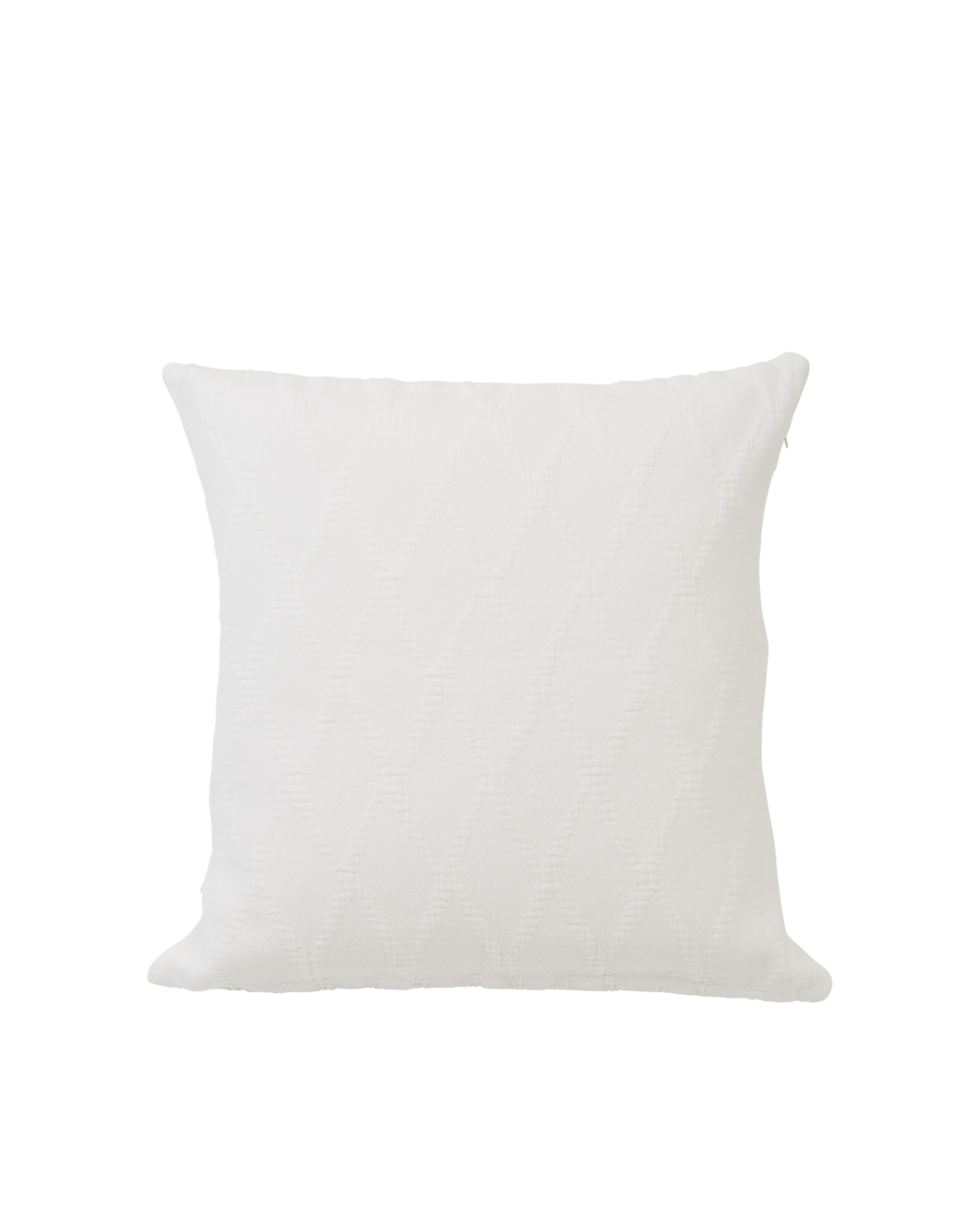 Jacquard Cotton Pillow Cover, White