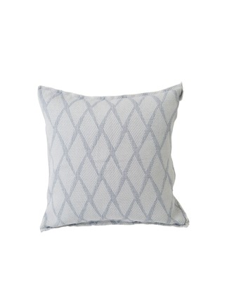 Jacquard Cotton Pillow Cover, Blue/White