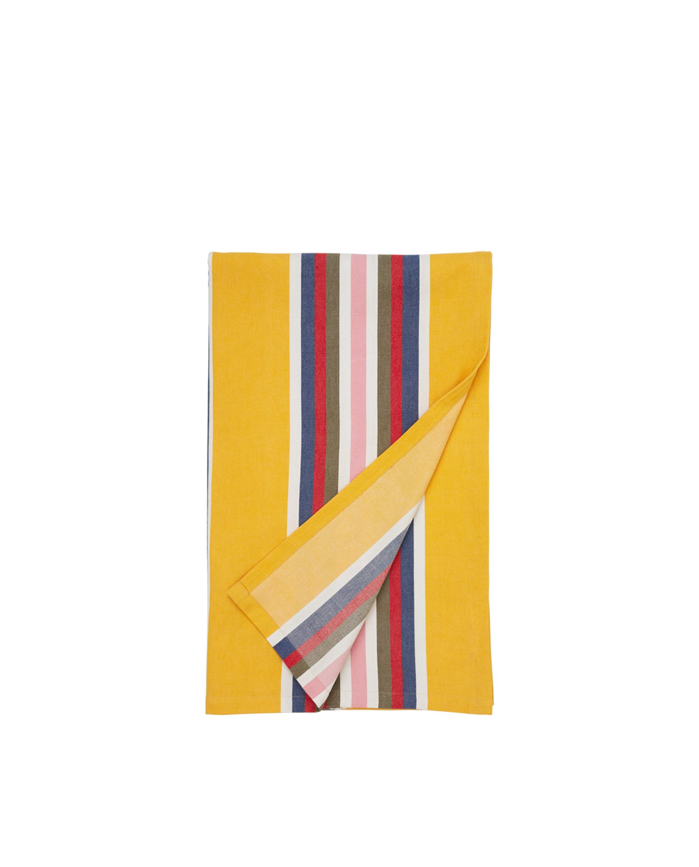 Striped Cotton Tablecloth, Yellow Mutli
