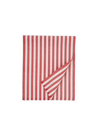 Striped Cotton Runner, Red/White