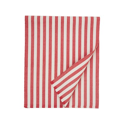 Striped Cotton Runner, Red/White