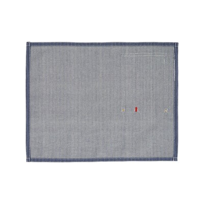 Striped Cotton Denim Placemat, Blue/White