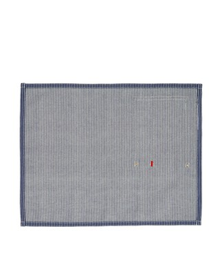Striped Cotton Denim Placemat, Blue/White