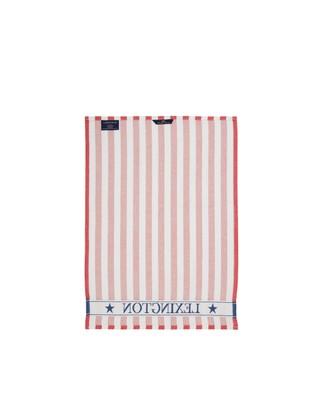 Striped Cotton Kitchen Towel, Red/White