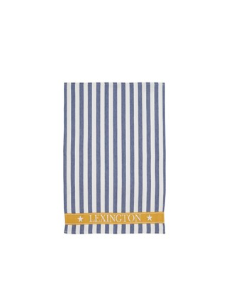 Striped Cotton Kitchen Towel, Blue/White