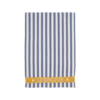Striped Cotton Kitchen Towel, Blue/White