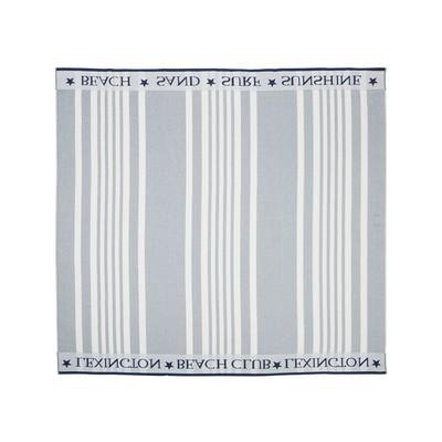 Family Beach Towel Cotton Blue/White 200x180 cm