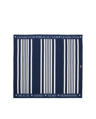 Family Beach Towel Cotton Blue/White 200x180 cm