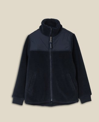 Sammie Sherpa Wool Blend Jacket, Dark Blue