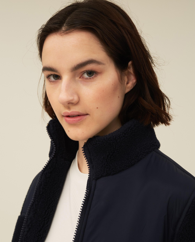 Sammie Sherpa Wool Blend Jacket, Dark Blue