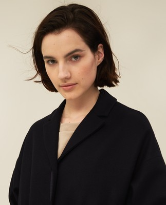 Alice Wool Blend Coat, Dark Blue