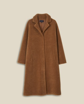 Judith Wool Blend Coat, Brown