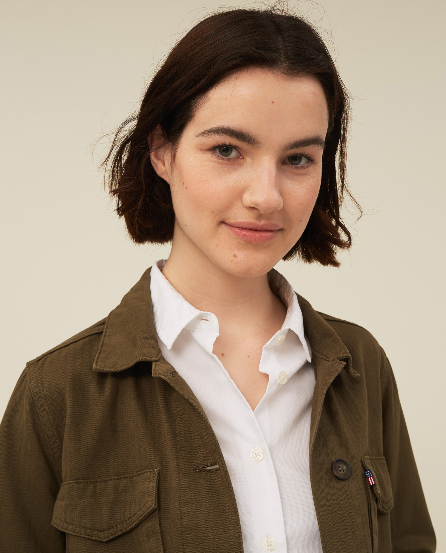 Raven Herringbone Jacket, Green