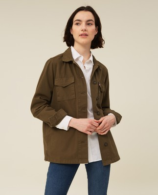Raven Herringbone Jacket, Green
