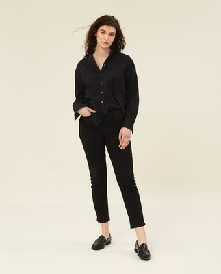 Edith Lt Oxford Shirt, Black