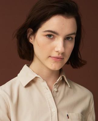 Emily Corduroy Shirt, Light Beige