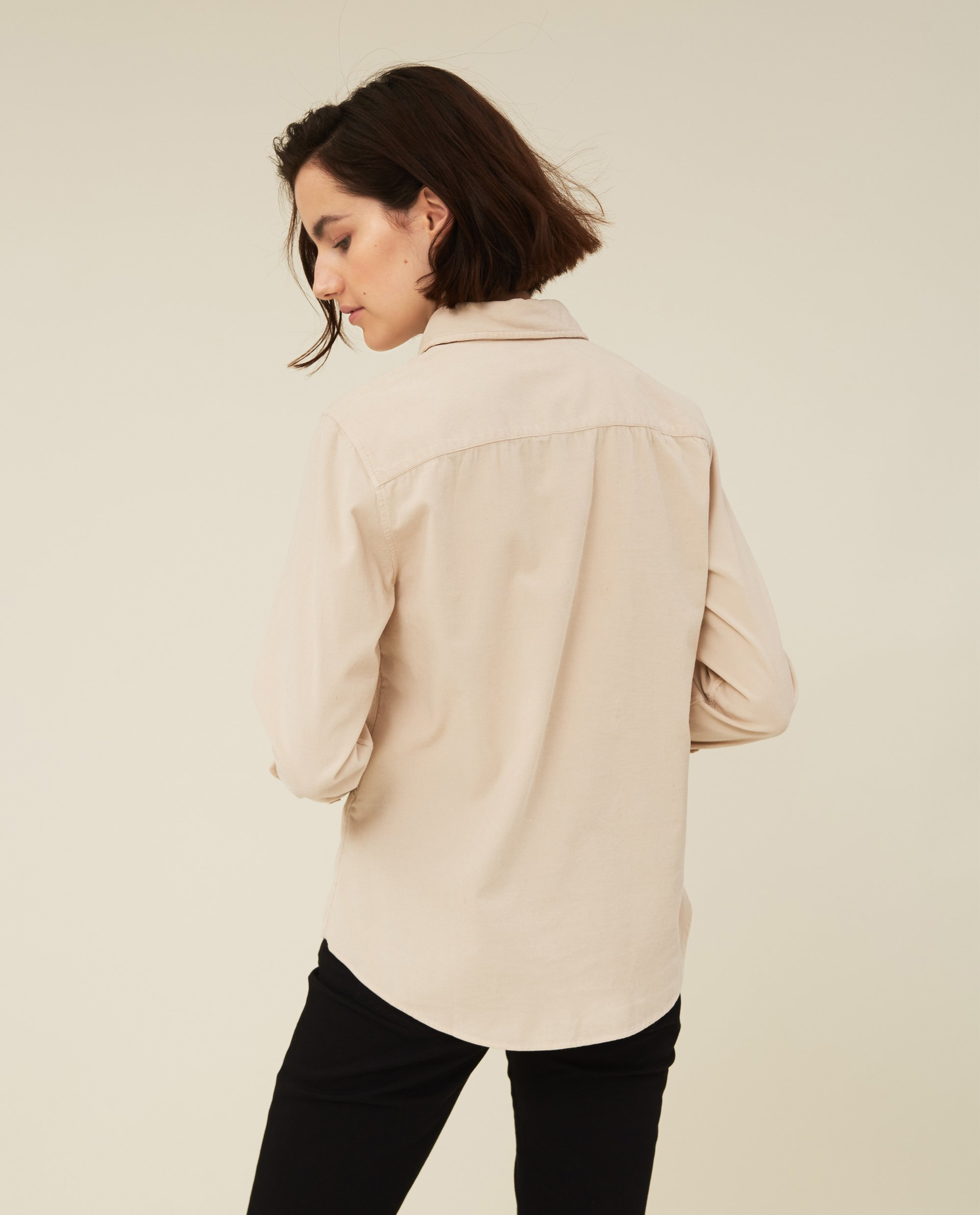 Emily Corduroy Shirt, Light Beige