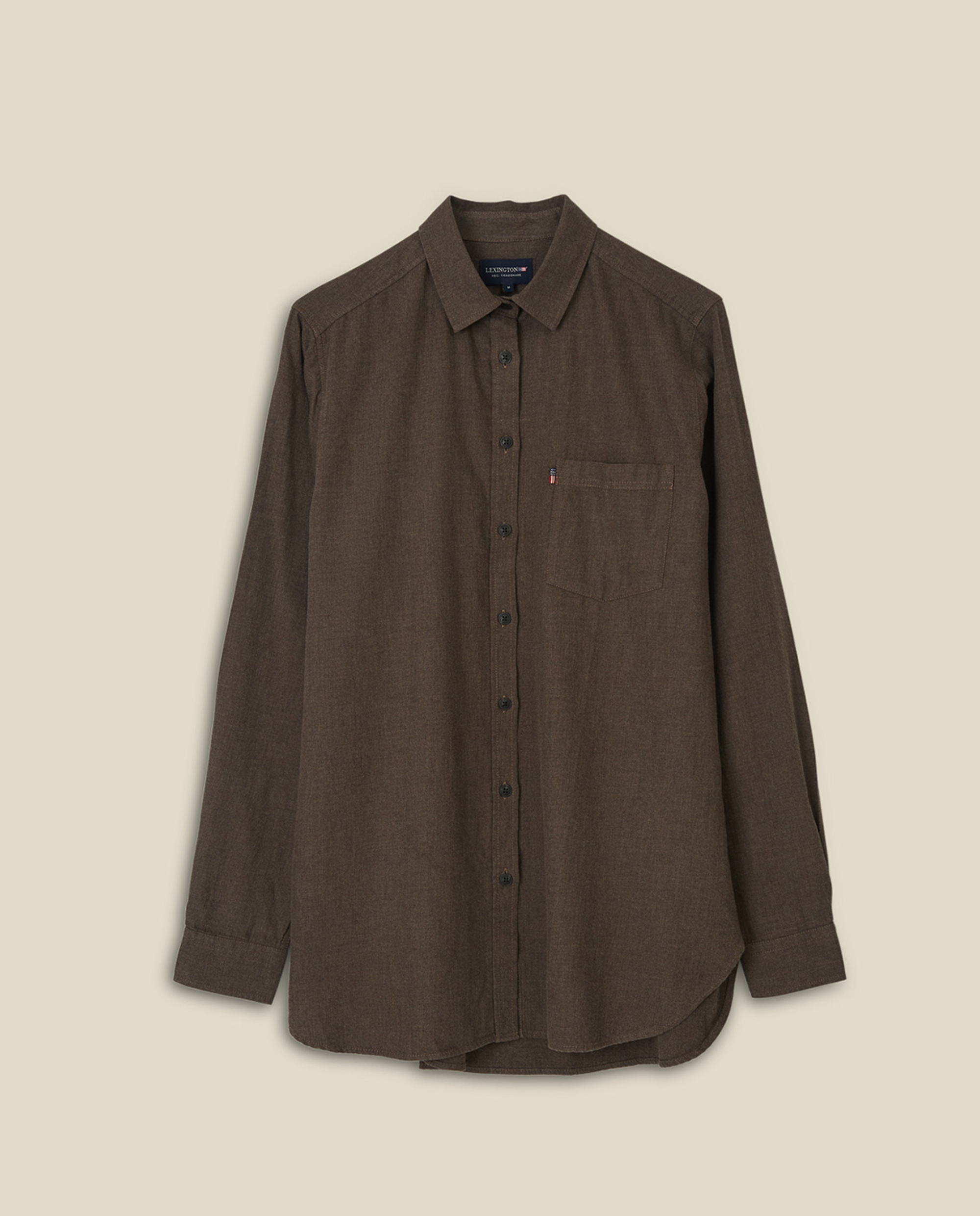 Isa Lt Flannel Shirt, Brown Melange