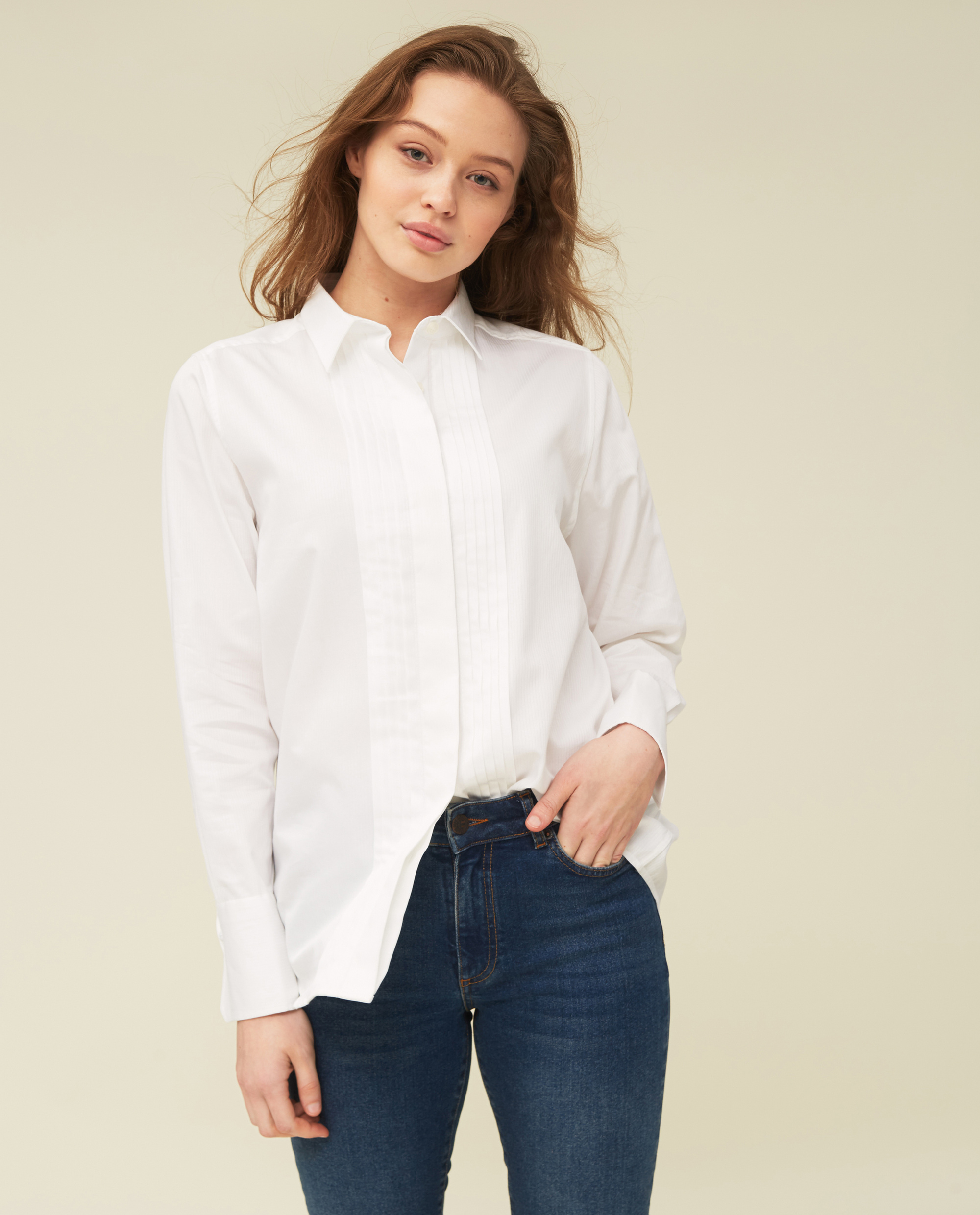 Misha Organic Cotton Shirt, White
