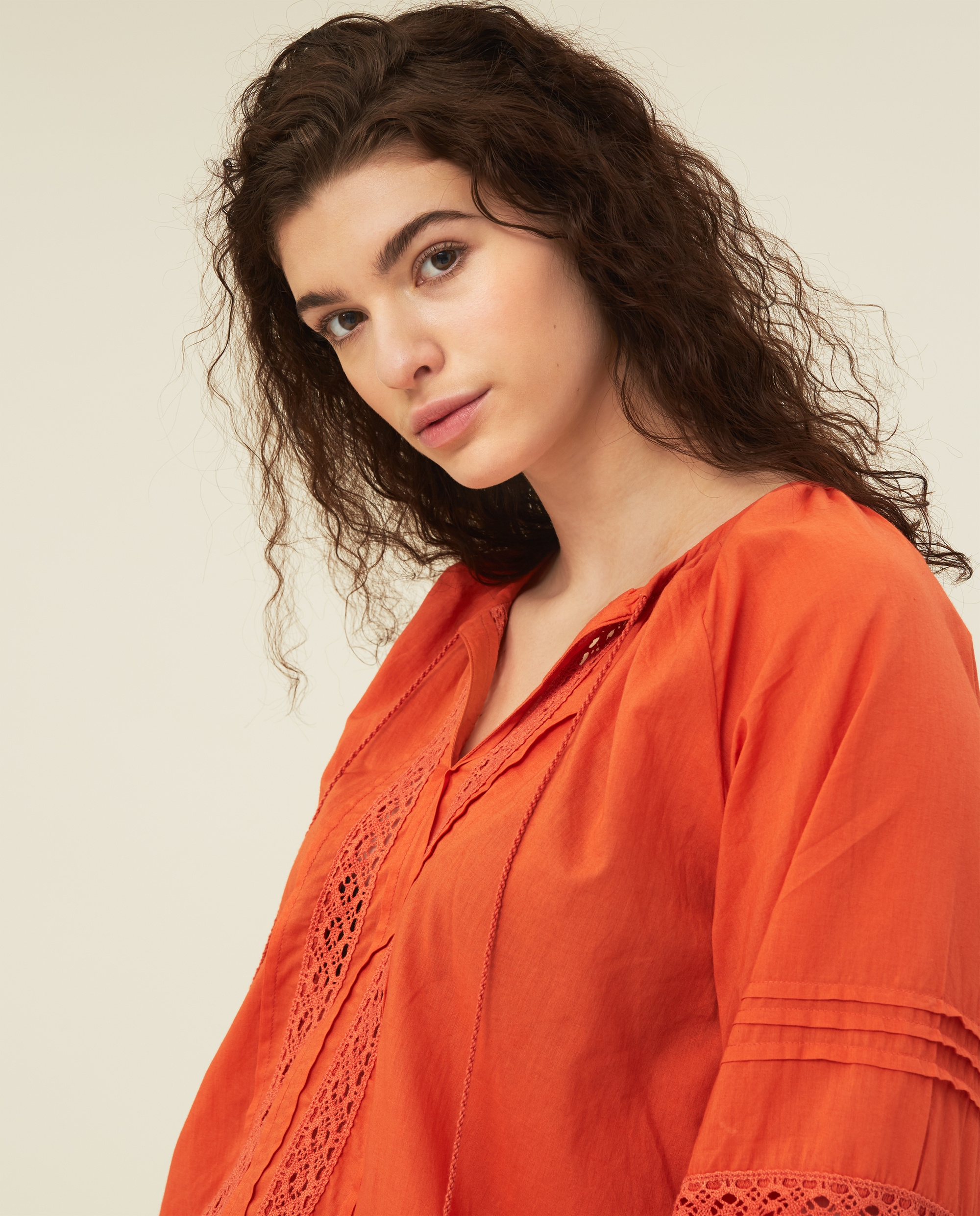 Violetta Organic Cotton Blouse