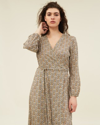 Louise Floral Print Wrap Dress