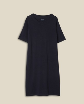 Amy Cotton/Bamboo Knitted Dress, Dark Blue