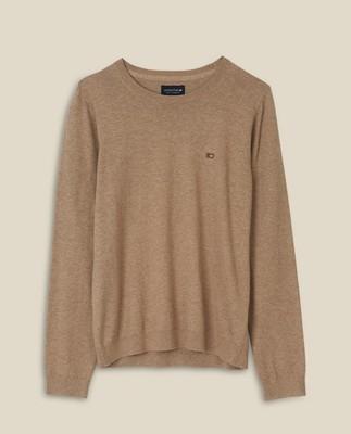 Marline Organic Cotton Sweater, Beige Melange
