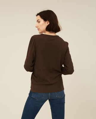 Yvette Cotton/Bamboo Sweater, Brown