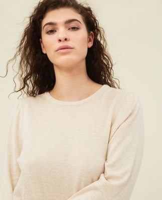 Yvette Cotton/Bamboo Sweater, Offwhite