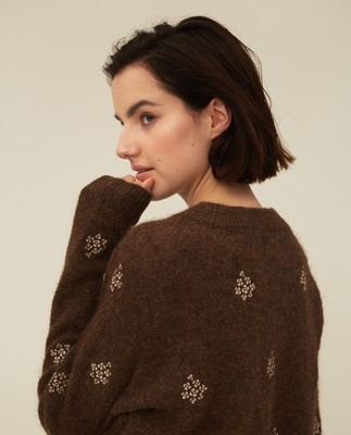 Clara Alpaca Blend Embroidery Sweater