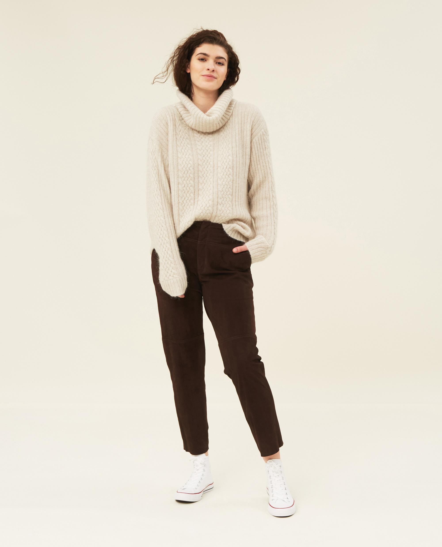 Susanne Alpaca Blend Cable Sweater