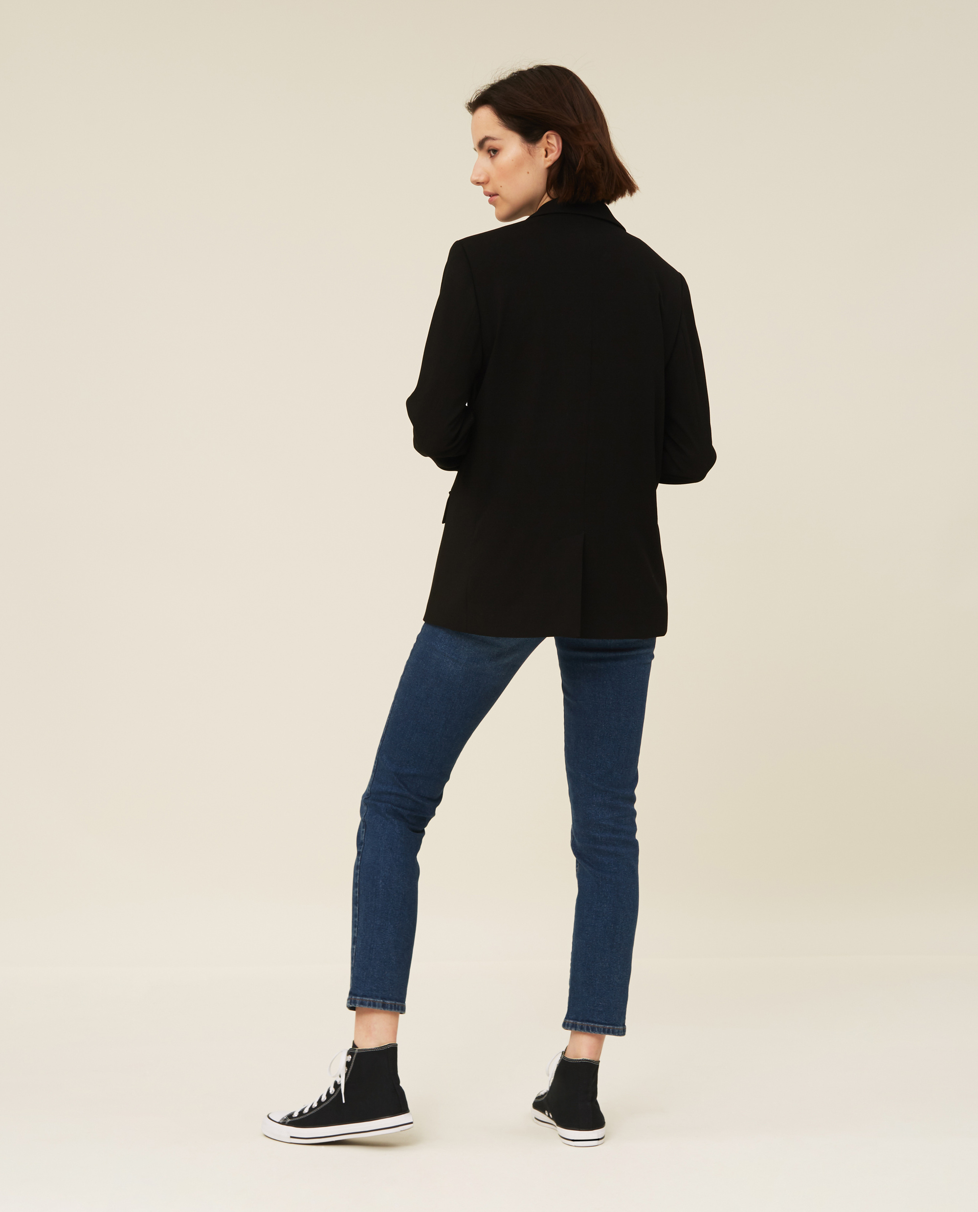 Tiffany Crepe Blazer, Black