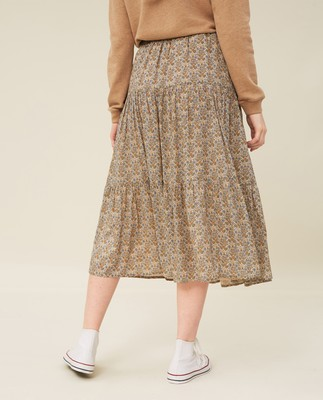 Evelyn Floral Print Skirt