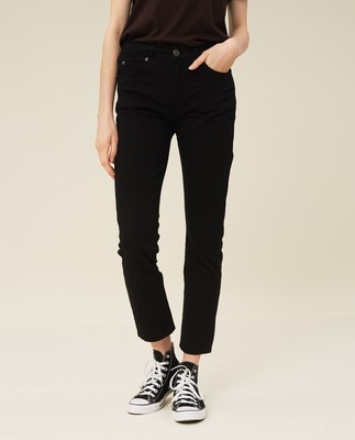 Zoe Solid Pants, Black