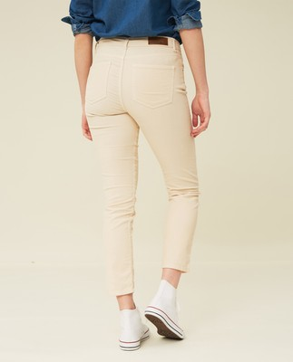 Zoe Corduroy Pants, Light Beige